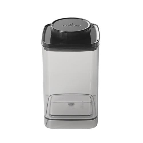 ANKOMN|Turn-N-Seal 真空保鮮盒 1200ml 半透明黑 (1入)