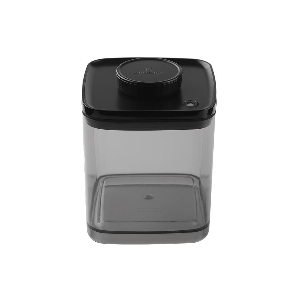 ANKOMN|Turn-N-Seal真空保鮮盒 2.4公升 半透明黑 (1入)