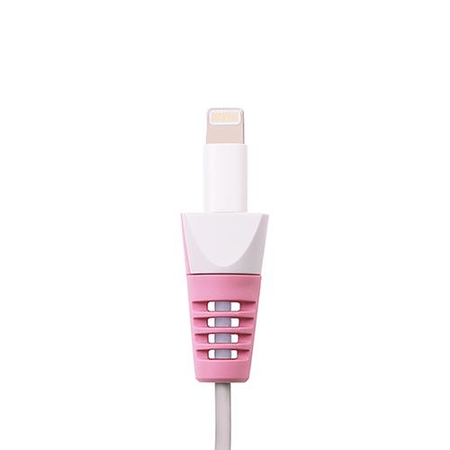 ANKOMN|蘋果原廠線專用保護套4入組(粉色.綠色)