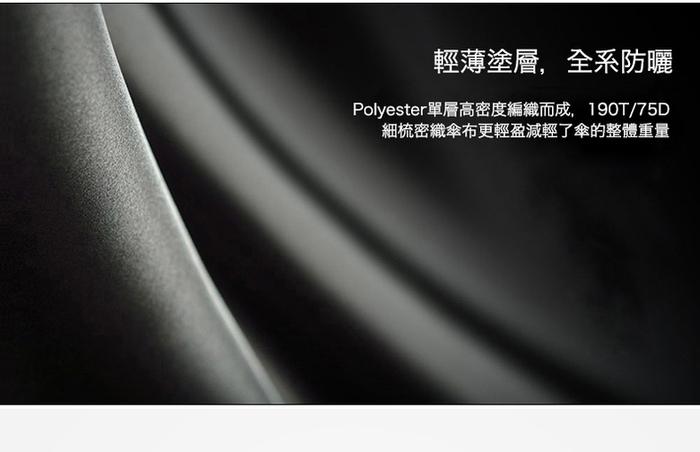 德國kobold|抗UV-潮F撞色系列-超輕巧-遮陽防曬彩膠傘-三折傘-深藍