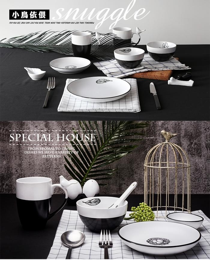 (複製)【JOYYE陶瓷餐具】小鳥依偎6寸圓盤(一套2件)