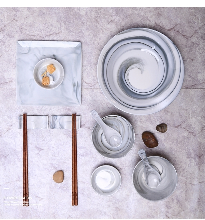 (複製)【JOYYE陶瓷餐具】畫意圓盤-灰色