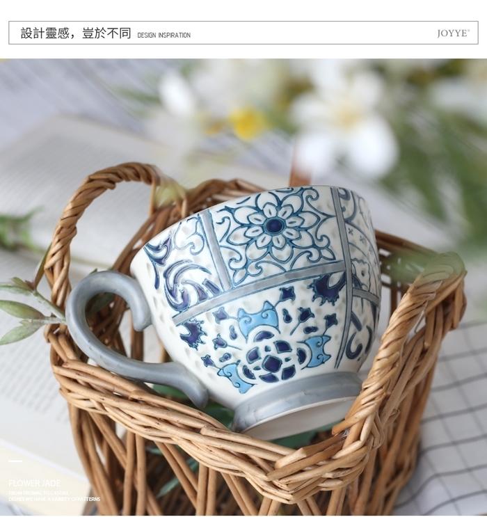 (複製)【JOYYE陶瓷餐具】畫意碗-綠色(一套2件)