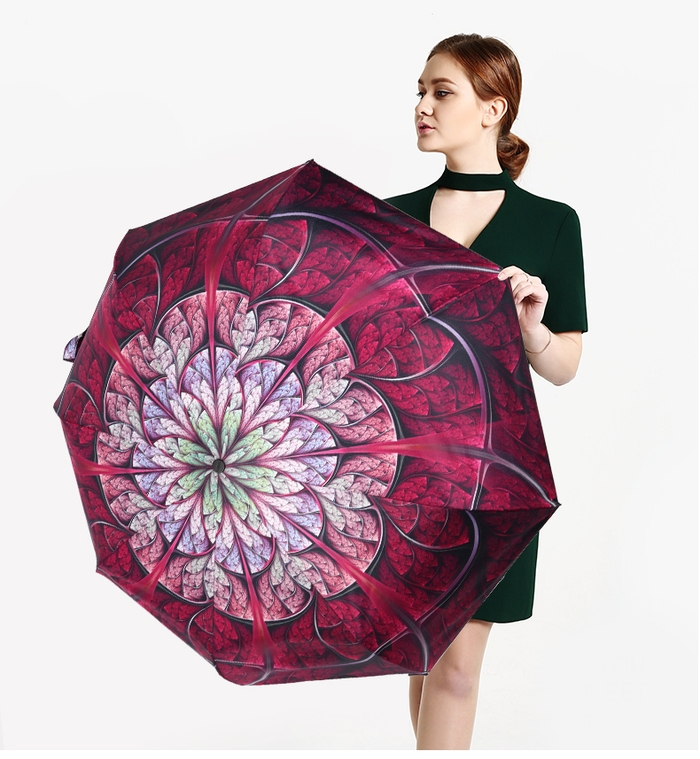 德國kobold|新盛開超強遮陽防曬降溫傘-雙層三折傘-鑽石藍