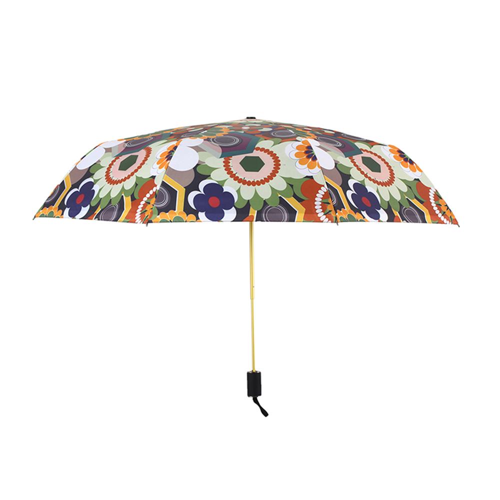 德國kobold 抗UV零透光智能防曬-國際設計師范燕燕繁華系列-降溫傘雙層三折傘-繁華二