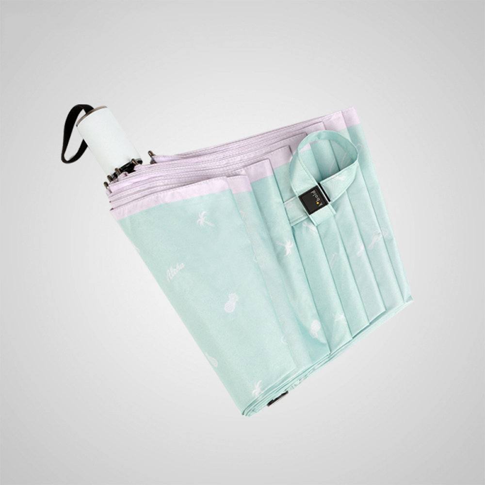 德國kobold|抗UV夏威夷風情-超輕巧 遮陽防曬三折傘-粉色