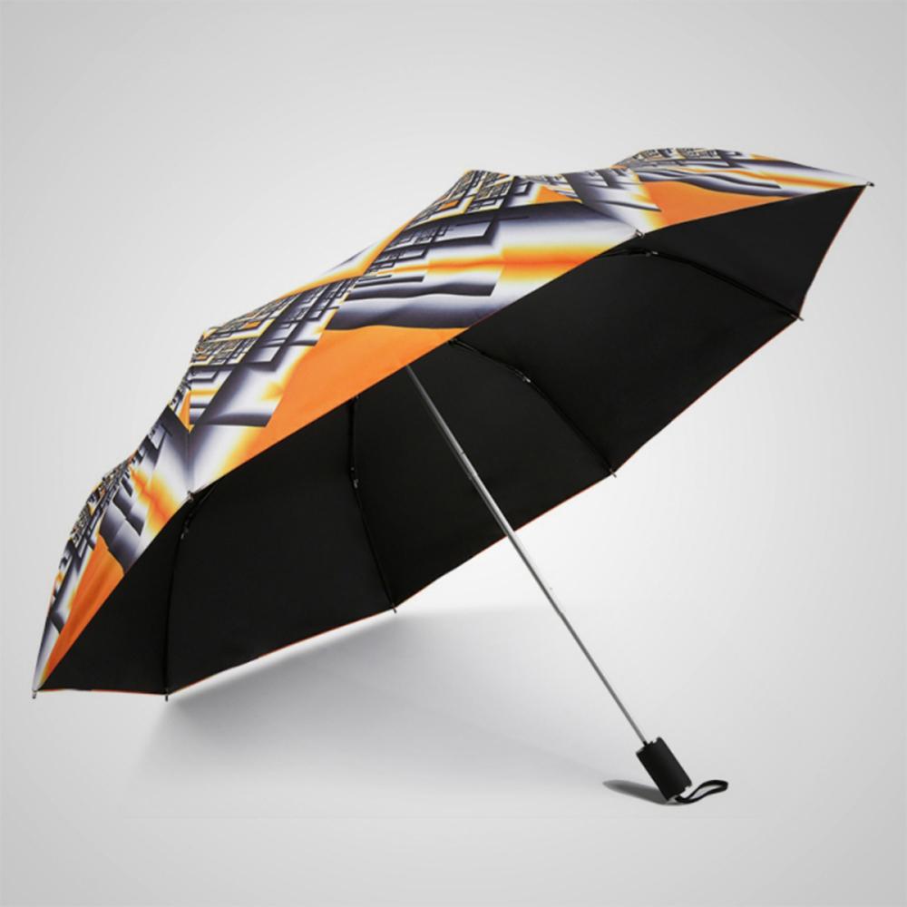 德國kobold|橙幽幻井-超輕巧抗UV防曬三折傘-烈焰橘