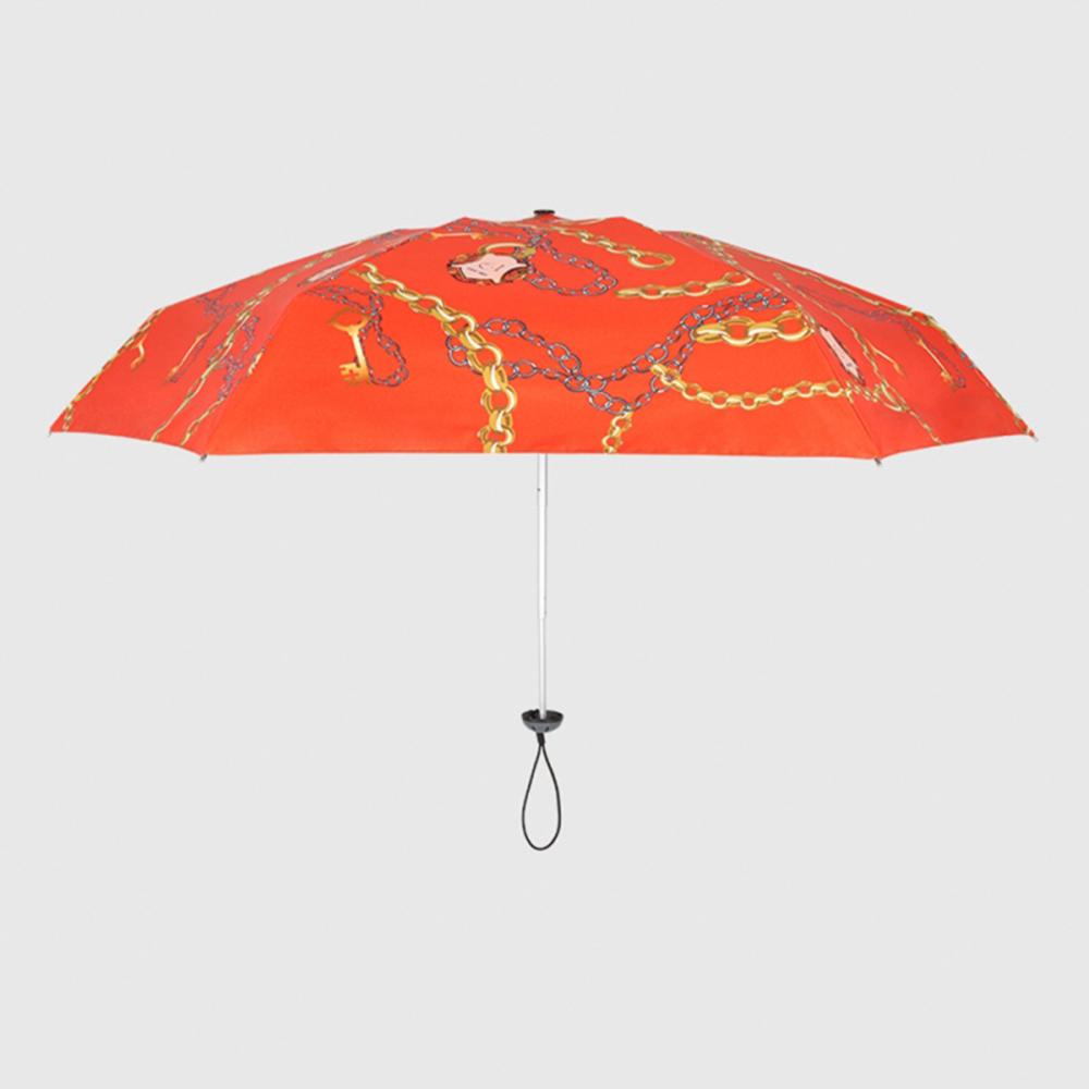 德國kobold|抗UV蘑菇頭系列-6K超輕巧遮陽防曬 五折傘-艾瑪橙