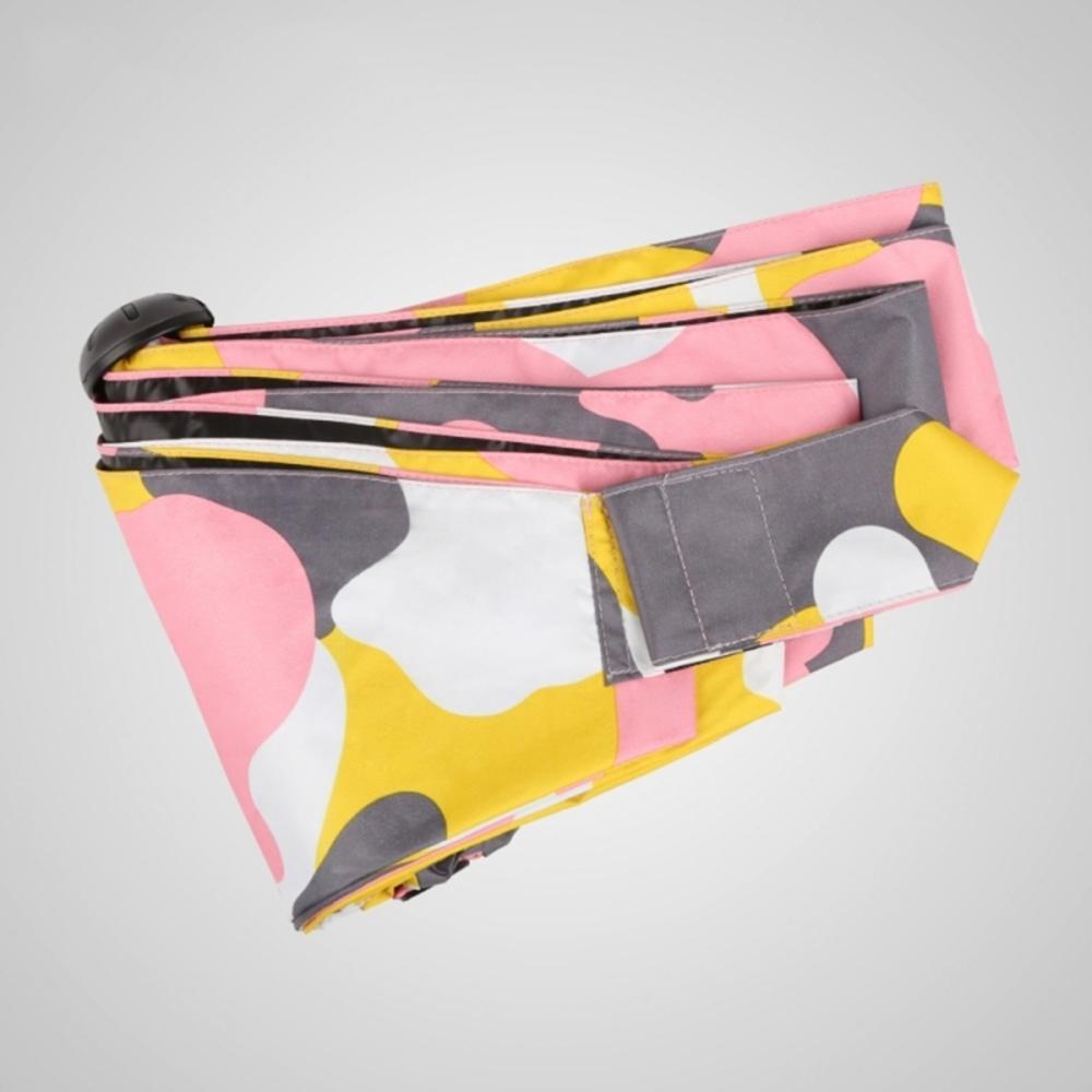 德國kobold|抗UV蘑菇頭系列-6K超輕巧-遮陽防曬五折傘-迷彩粉