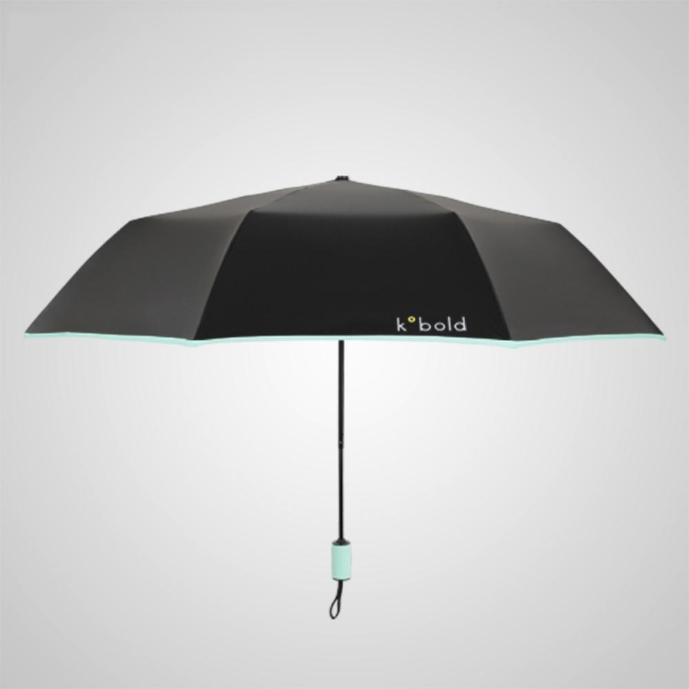 德國kobold|抗UV旋轉芭蕾系列-超輕巧-隱藏傘珠-遮陽防曬三折傘-淺粉綠
