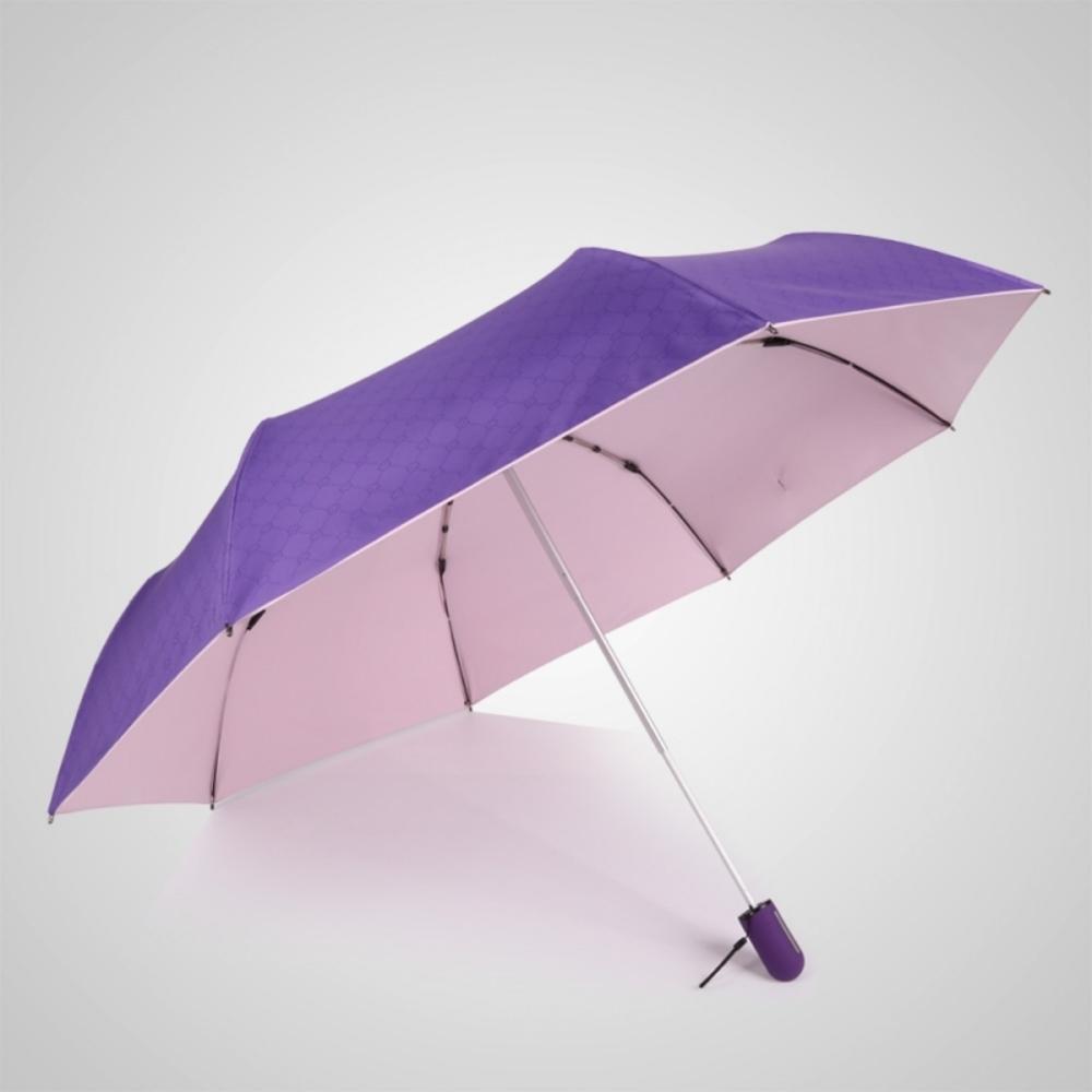 德國kobold|抗UV粉紅女王系列-矽膠蜂巢-按摩手把-遮陽防曬三折傘-貴氣紫