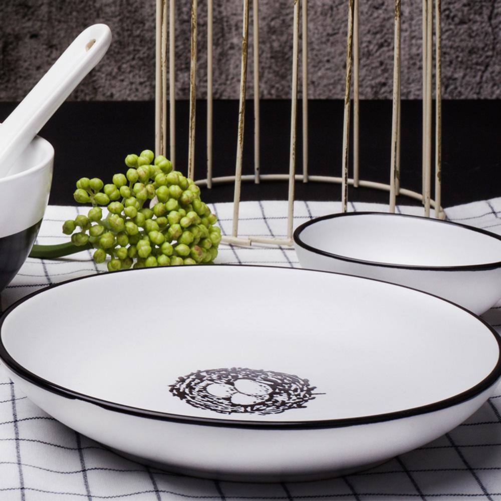 JOYYE陶瓷餐具|小鳥依偎6寸圓盤(一套2件)