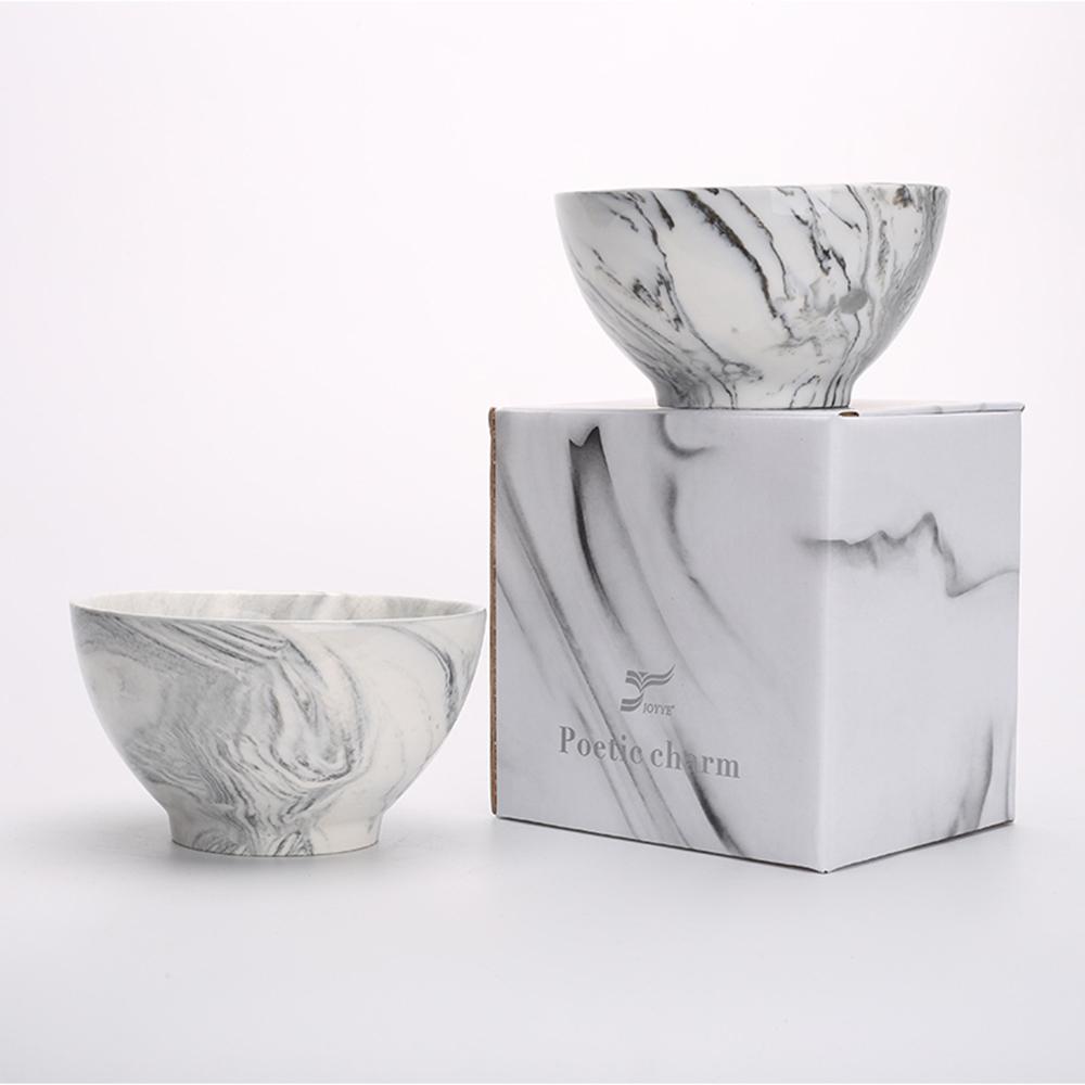JOYYE陶瓷餐具|畫意碗-灰色(一套2件)