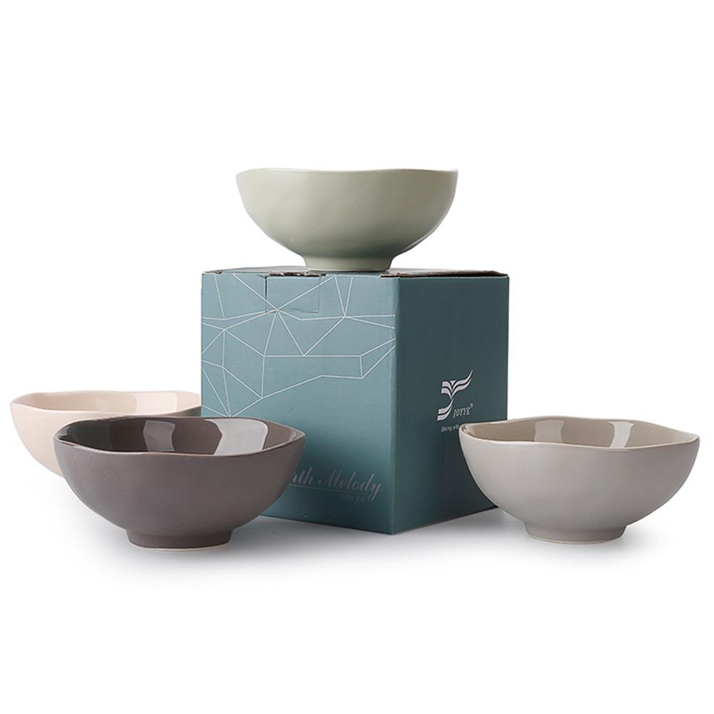 JOYYE陶瓷餐具|自然初語浪邊碗-小(一套4件)