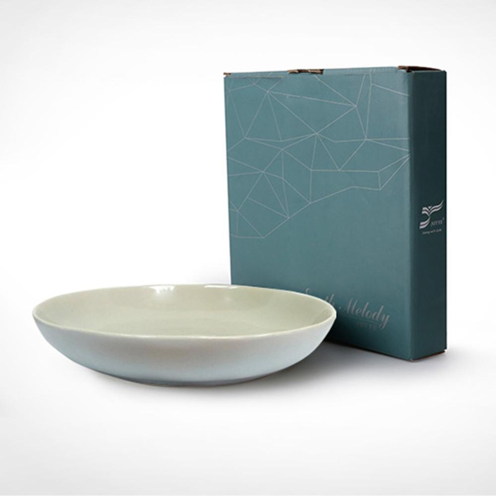 JOYYE陶瓷餐具|自然初語手捏深盤-灰色