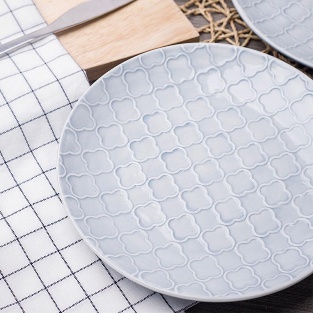 JOYYE陶瓷餐具|幾何人生浮雕8寸圓盤(一套2件)