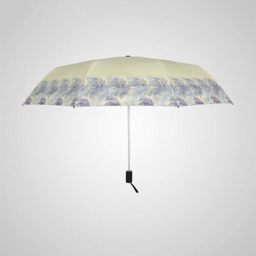 德國kobold|抗UV-夏日海灘-超輕巧-按摩手把-遮陽防曬傘-三折傘-綠棕梠