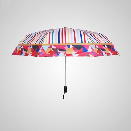 德國kobold|抗UV-英倫線條-超輕巧-按摩手把-遮陽防曬傘-三折傘-英倫線條