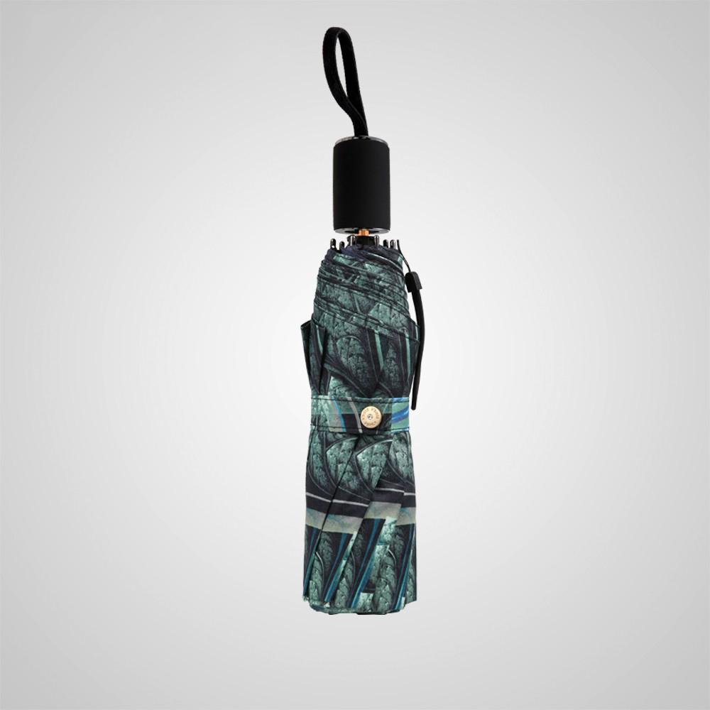 德國kobold|新盛開超強遮陽防曬降溫傘-雙層三折傘-祖瑪綠