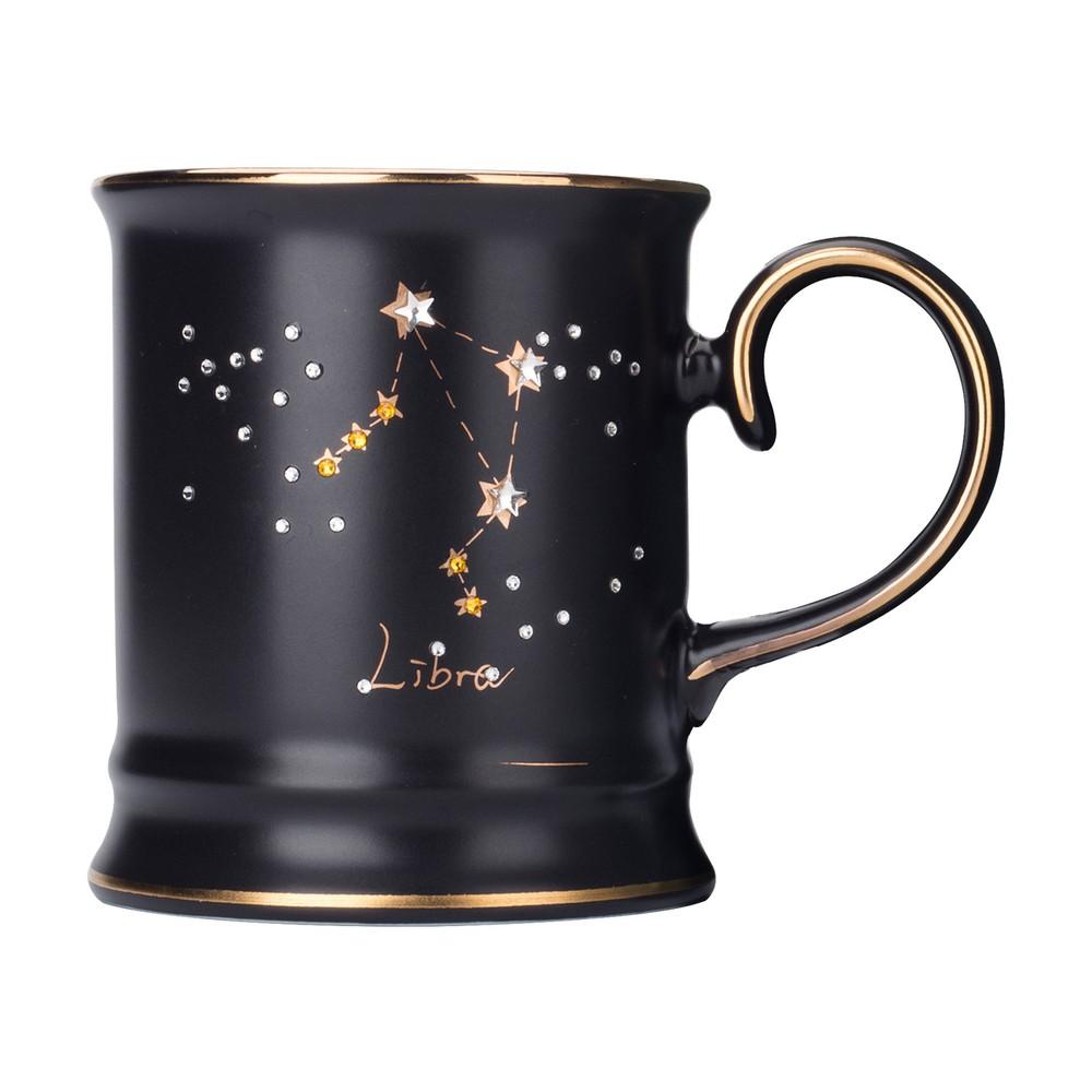 JOYYE陶瓷餐具|施華洛世奇星耀十二星座系列馬克杯-天秤座
