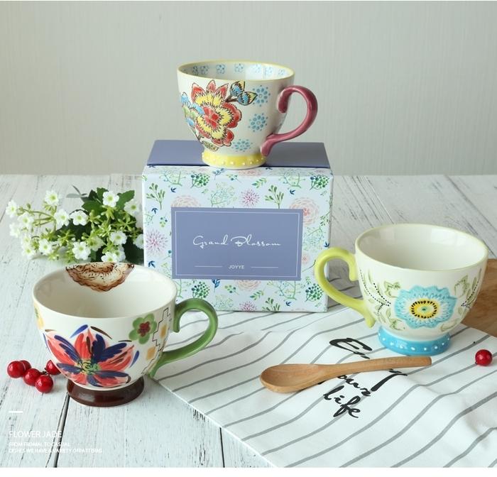 (複製)【JOYYE陶瓷餐具】花如玉手繪C把杯-H