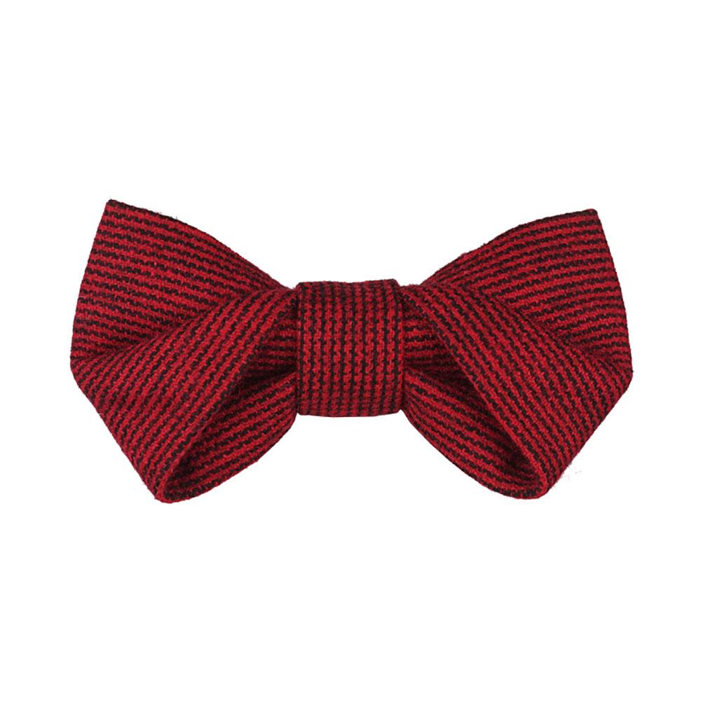 WEIXU WANG l 摺疊領結(紅條紋)