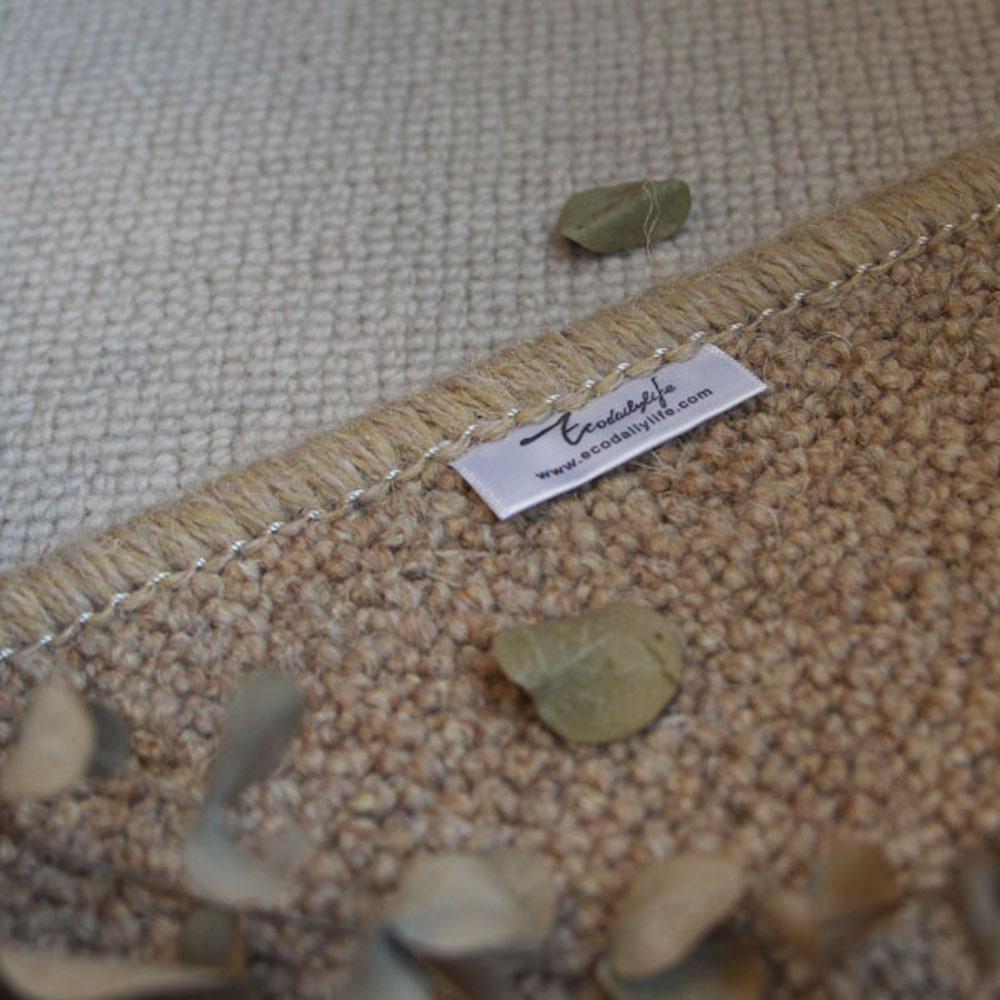 Ecodailylife|北歐風簡約羊毛地墊-卡其色