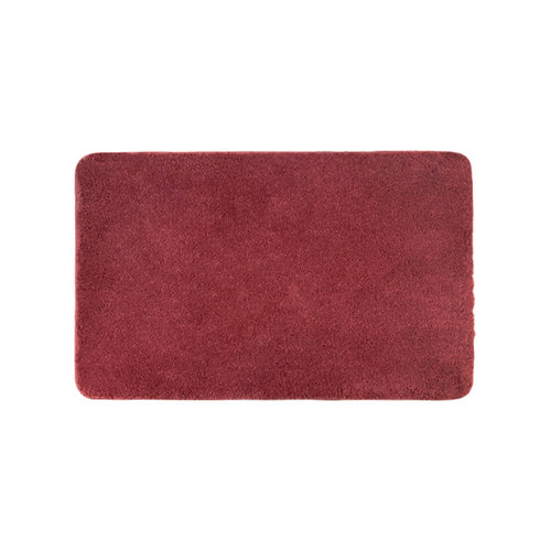 Ecodailylife|仿毛超柔浴室墊-瑰紅色