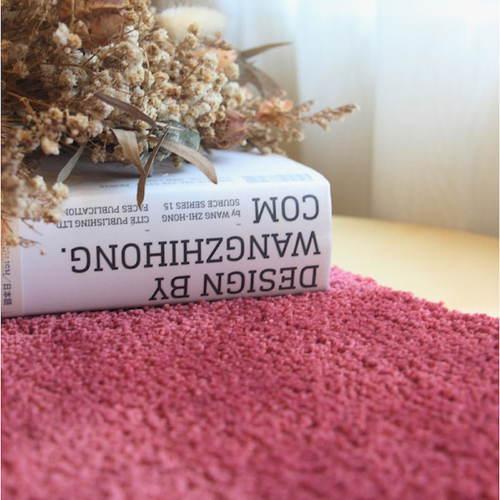 Ecodailylife|仿毛超柔浴室地墊超值2入組