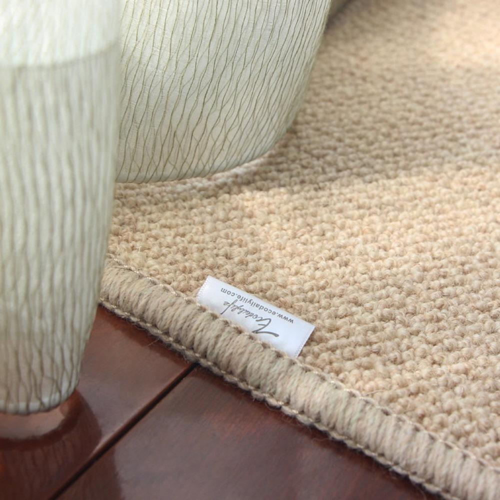 Ecodailylife 北歐風簡約羊毛地墊-淺咖啡