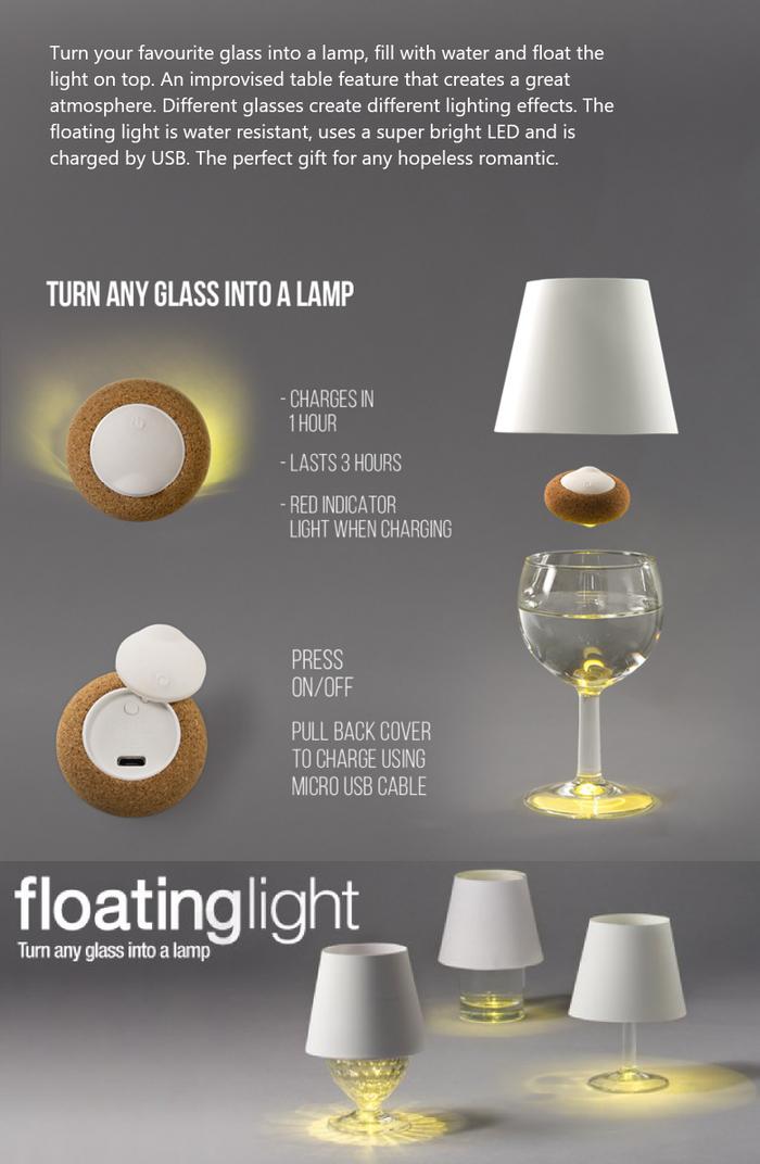 英國 Suck UK|水杯投影燈 漂浮的光