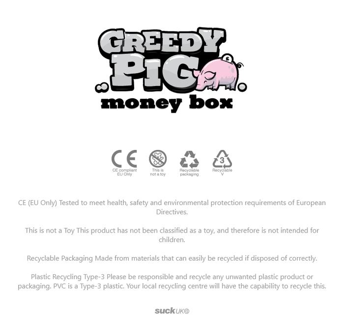 英國 Suck UK|貪吃小豬存錢筒