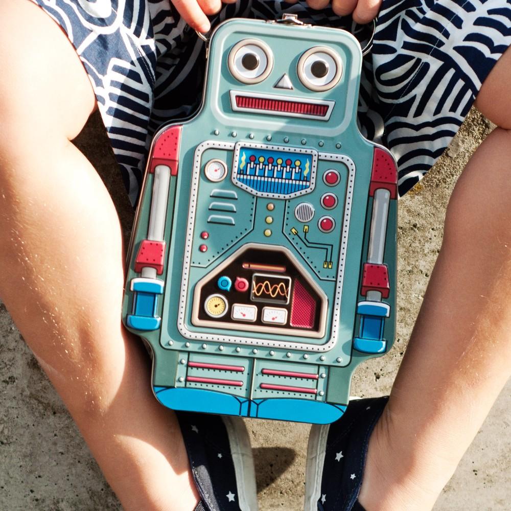 英國 Suck UK 復古機器人野餐盒
