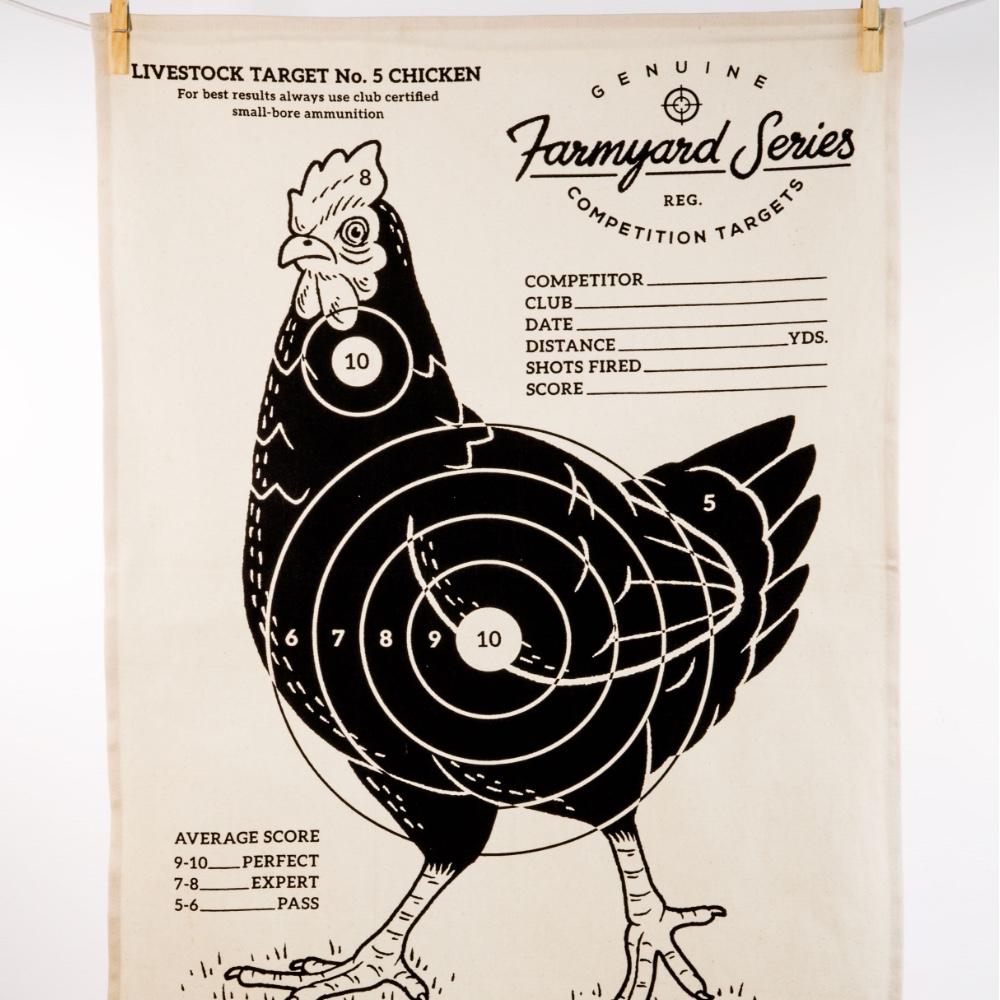 英國 Suck UK|趣味牧場動物茶巾-公雞