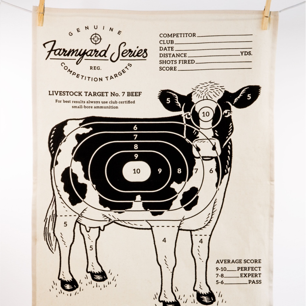 英國 Suck UK 趣味牧場動物茶巾-乳牛