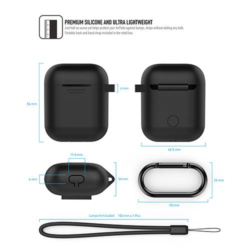 工具豆 AHAstyle AIRPODS 專用全包覆掛勾保護套(黑色)