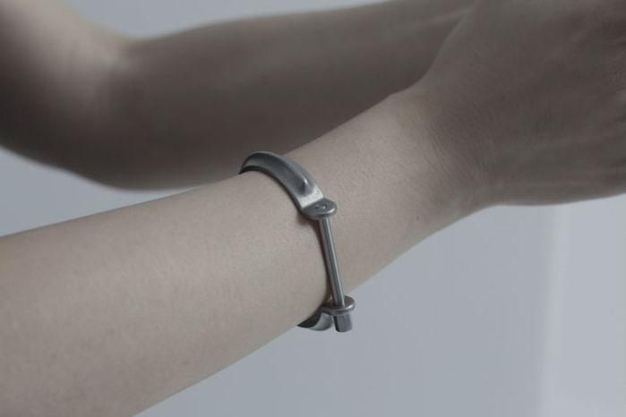 DRILLING LAB|CLAMP BRACELET TYPE A(銀色/S)