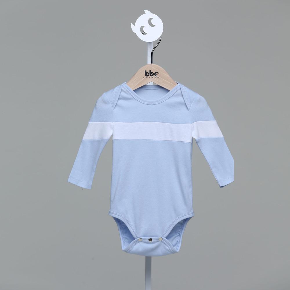 baby baby cool|一字拼接包屁衣(藍)