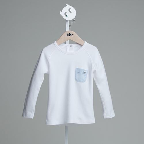 baby baby cool|小精靈口袋長袖(藍)