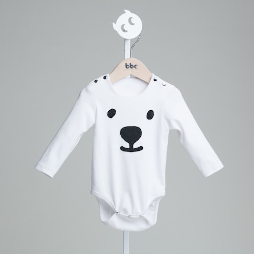 baby baby cool|北極熊臉長袖包屁衣