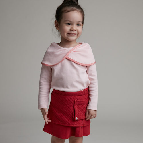 baby baby cool|雙層A字短裙(紅)