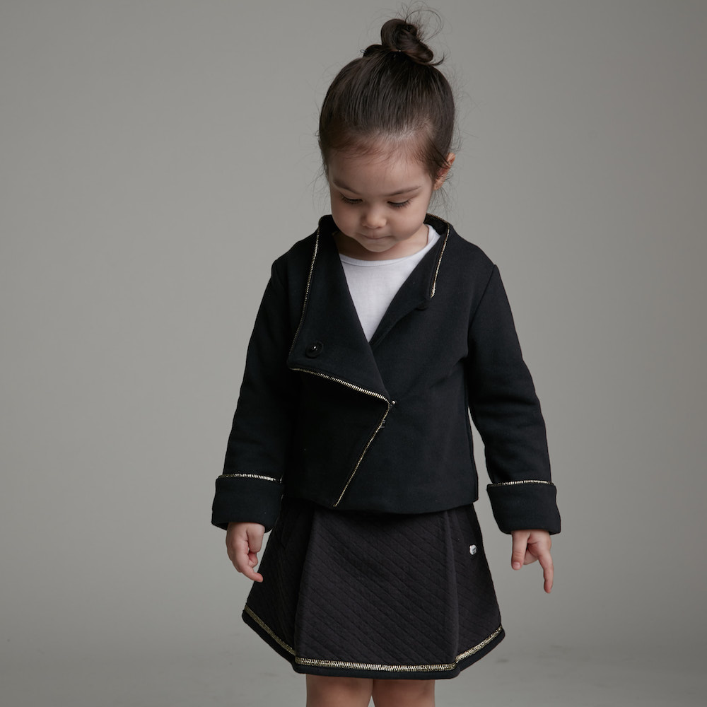 baby baby cool|大摺菱格紋裙