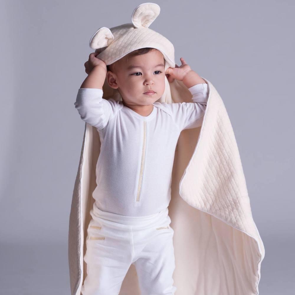 baby baby cool|立體熊耳朵包巾