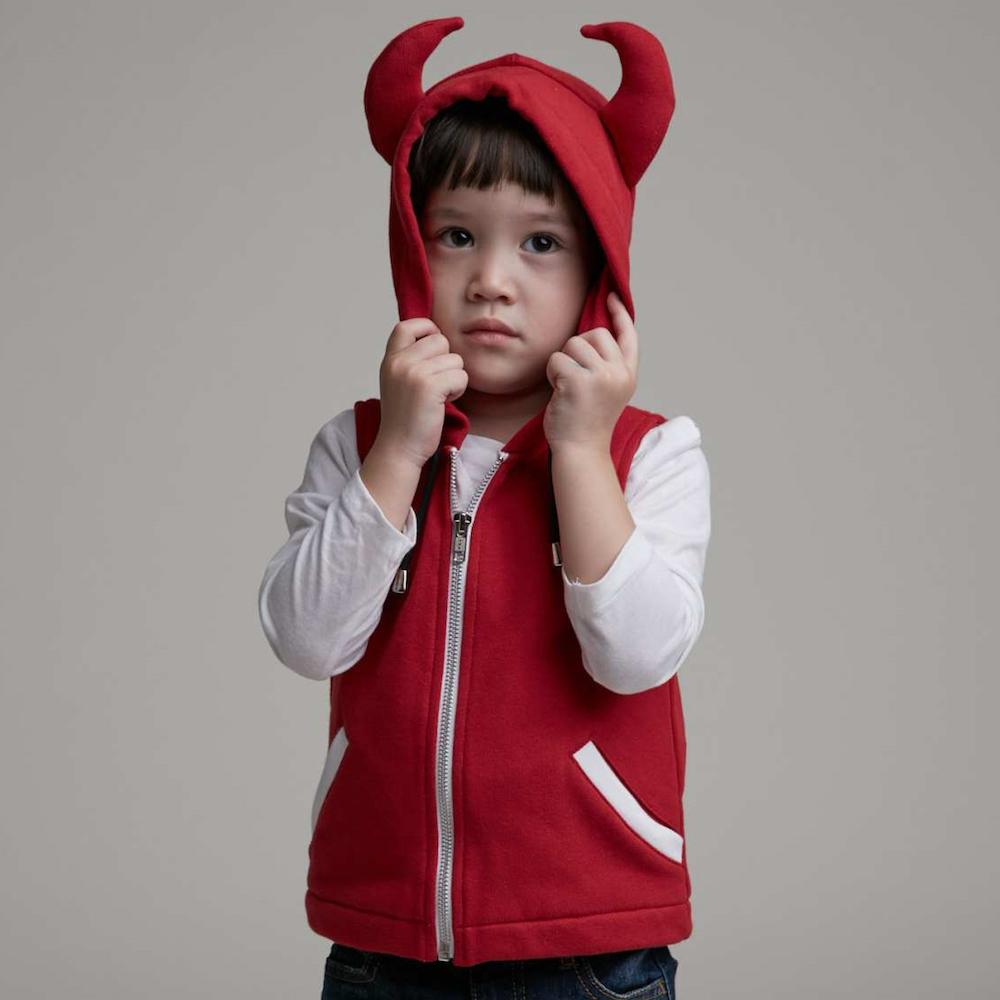 baby baby cool|小惡魔連帽背心(紅)