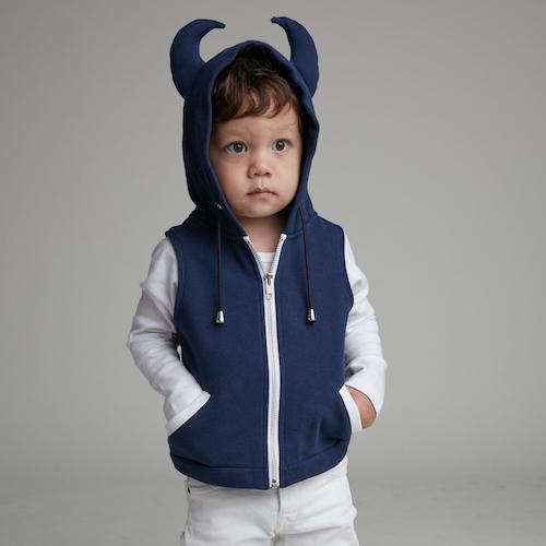 baby baby cool|小惡魔連帽背心(藍)