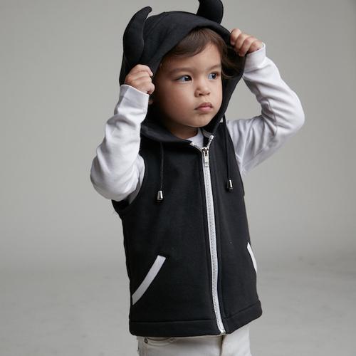 baby baby cool|小惡魔連帽背心(黑)