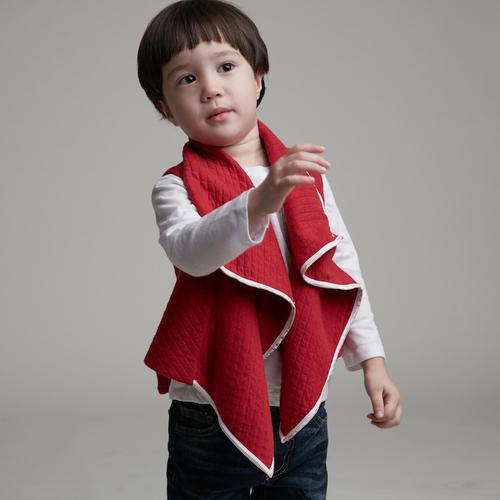 baby baby cool|個性立裁翻領背心(紅)
