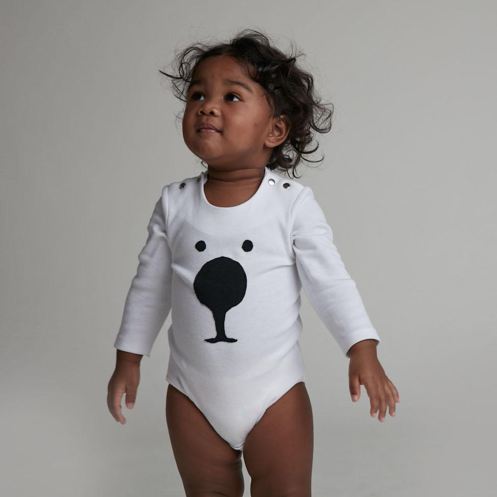 baby baby cool|大鼻狗臉長袖包屁衣