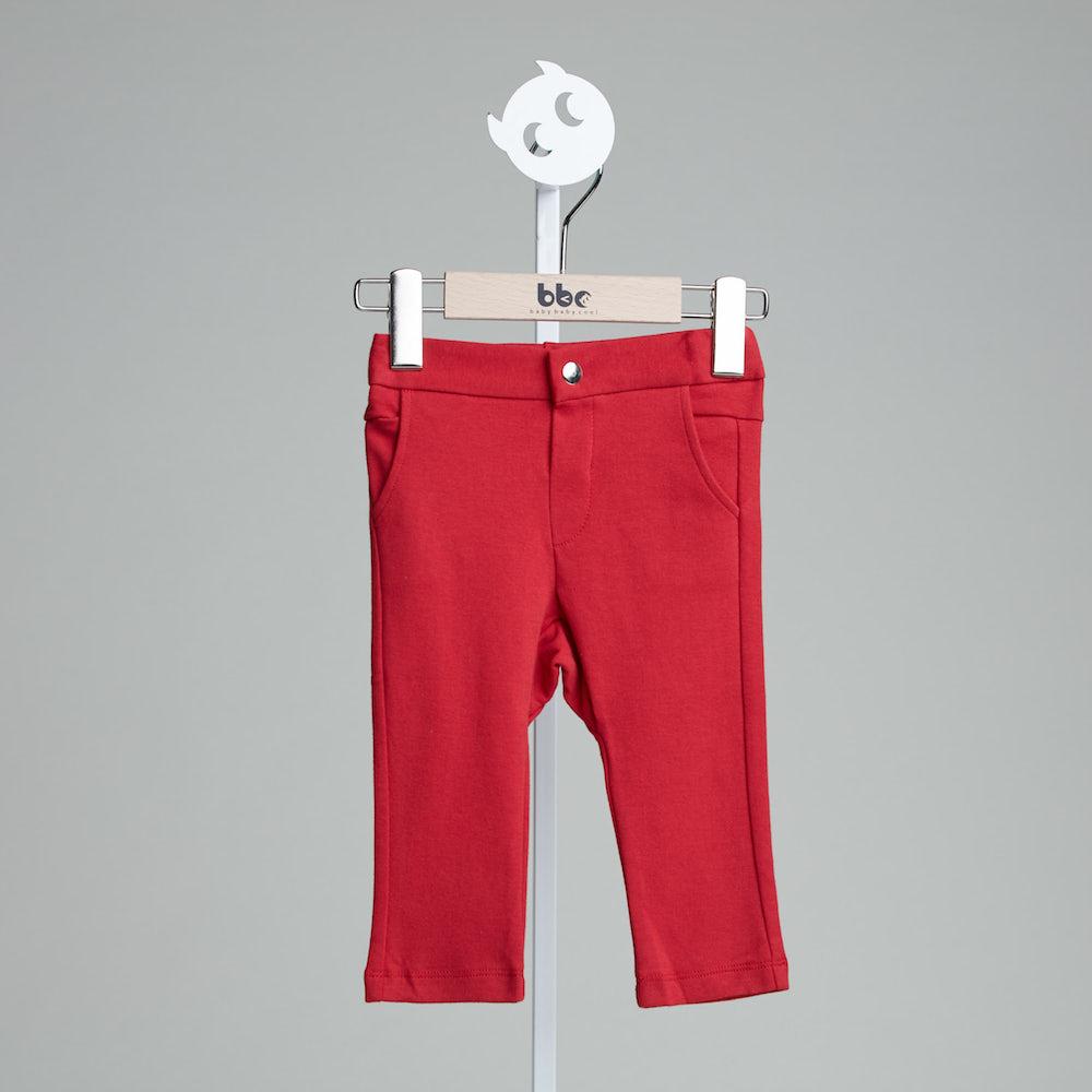 baby baby cool|口袋刺繡小精靈褲(紅)