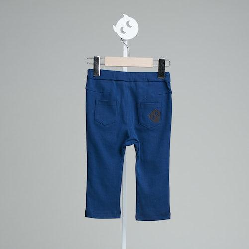 baby baby cool 口袋刺繡小精靈褲(藍)